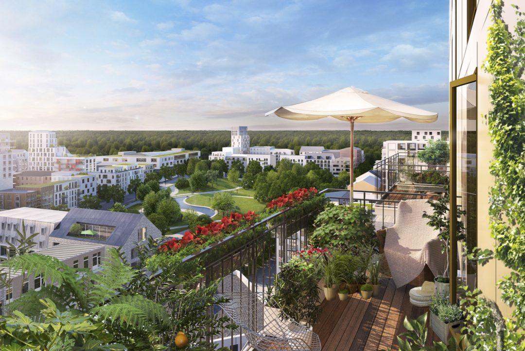 utsikt från balkongen över Victorias stadspark